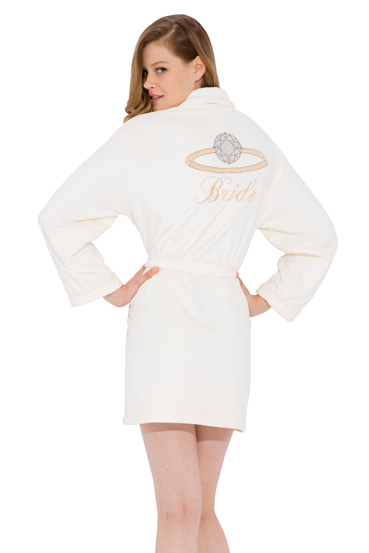Wrap Up Bride Short Robe
