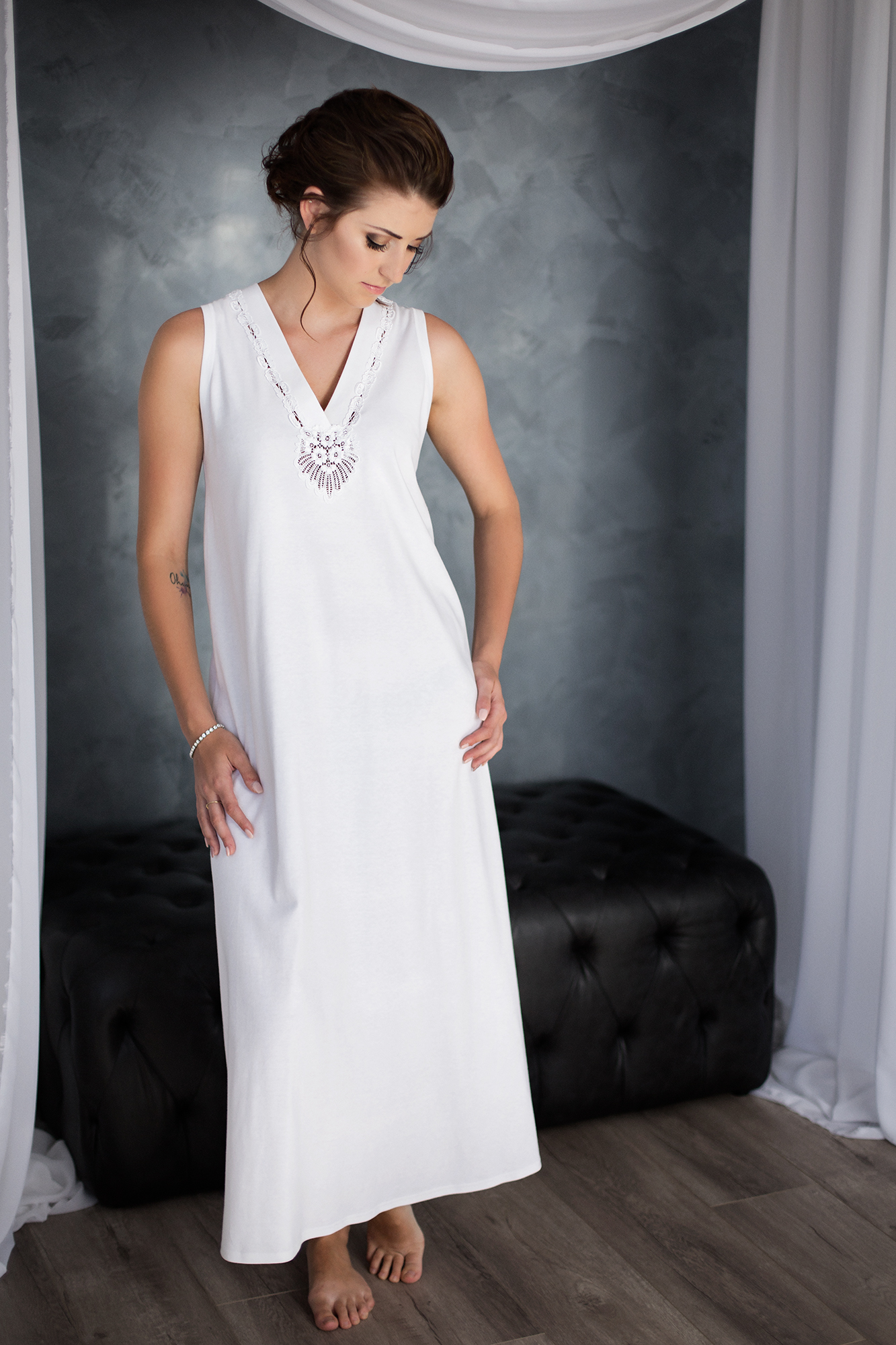 Callaway Sleeveless Long Gown