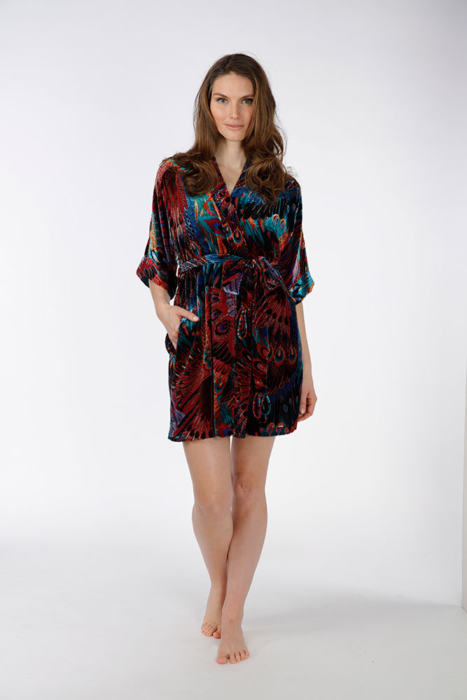 Gatsby Velvet Short Robe