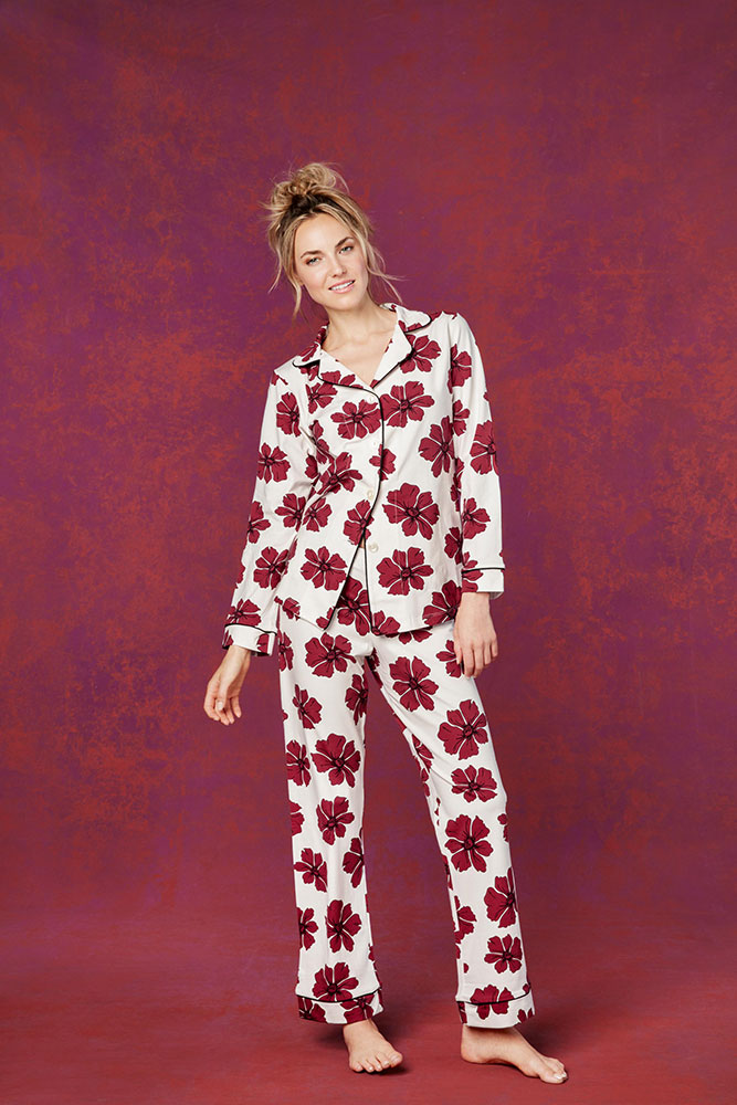 Red Poppies Classic Stretch PJ
