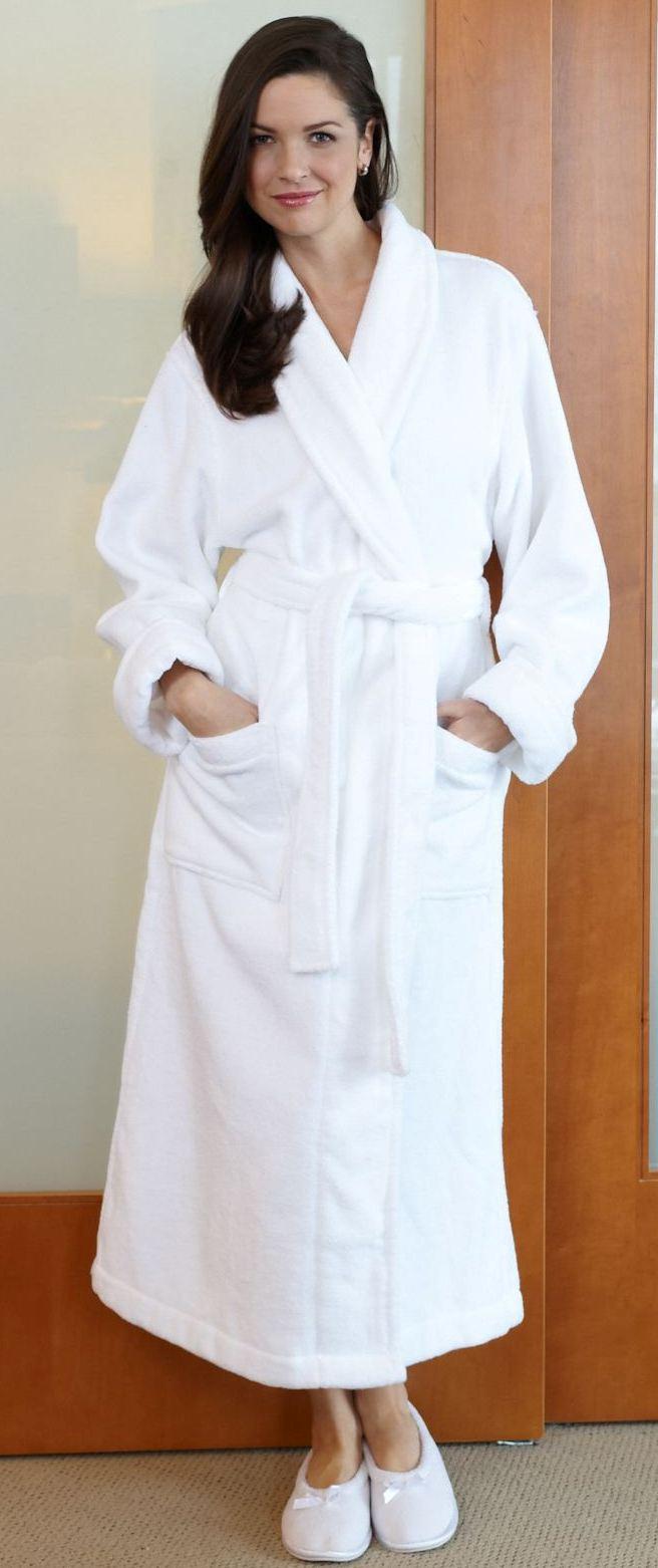 Long Wrap Cotton Robe