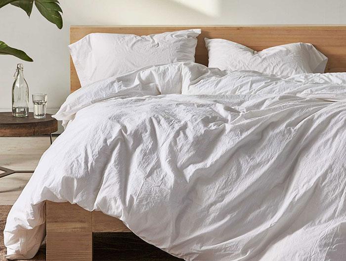 Crinkle Cotton White