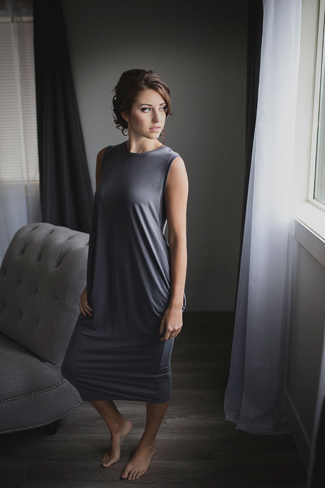 Grey Long Dress