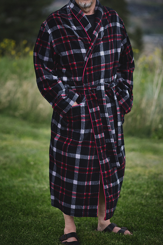 Men's Plaid Robe