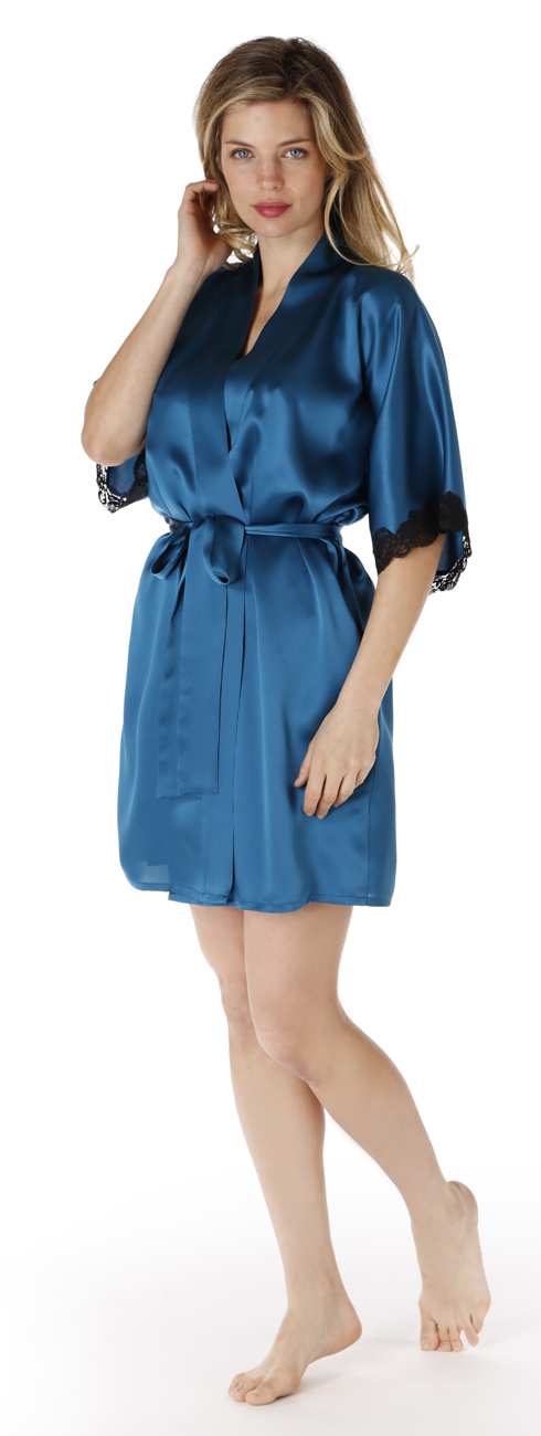 Short Silk Robe (available in multiple colours)