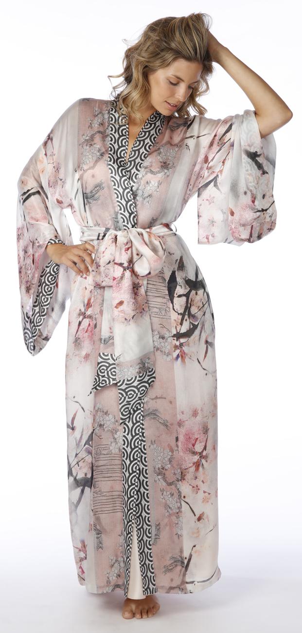 Long Silk Robe (multiple patterns)