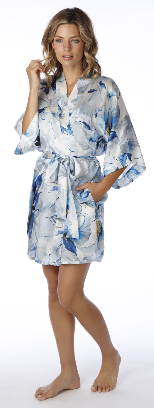 Short Silk Robe (available in multiple patterns)