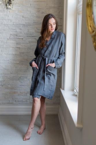 Linen Parisian Robe